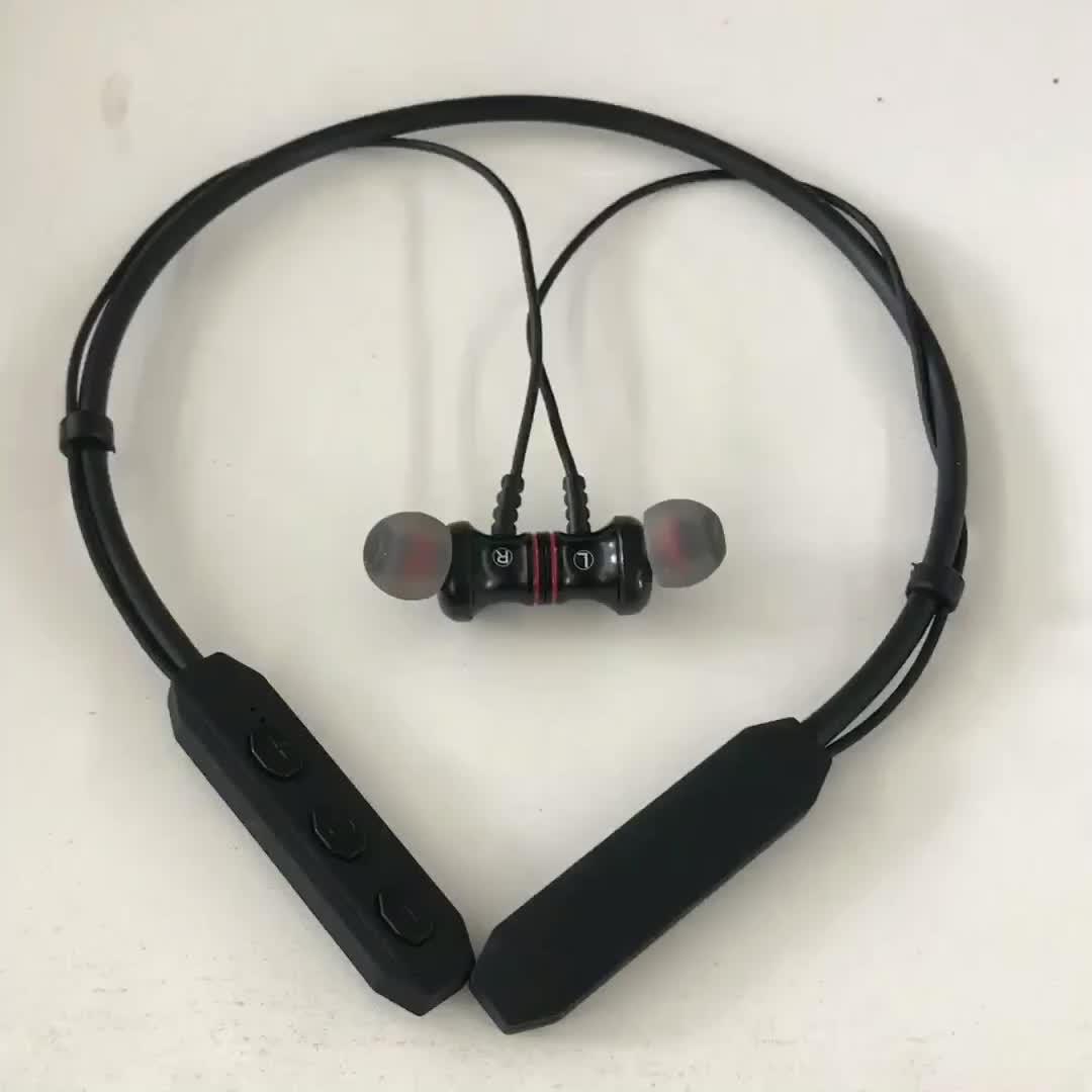 Di alta qualità di articoli all'ingrosso stereo senza fili sport dente blu magnetico cuffia auricolare per il telefono mobile