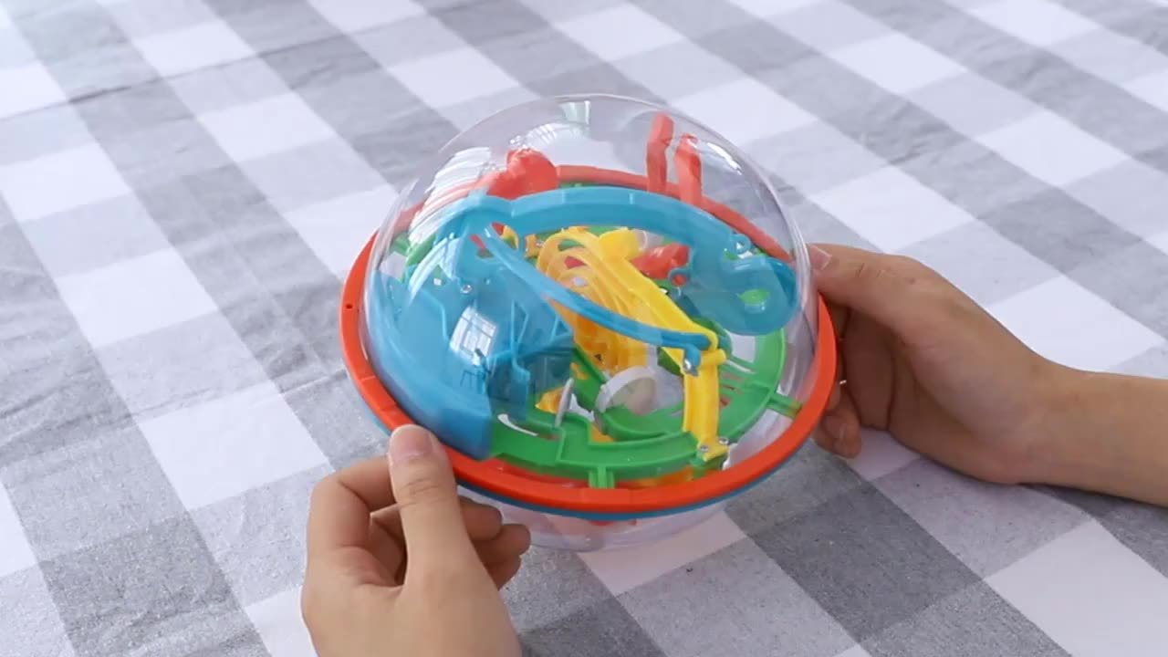 Maze ball small 100 level 3D magic puzzle walking magic cube children's intellectual adventure toys