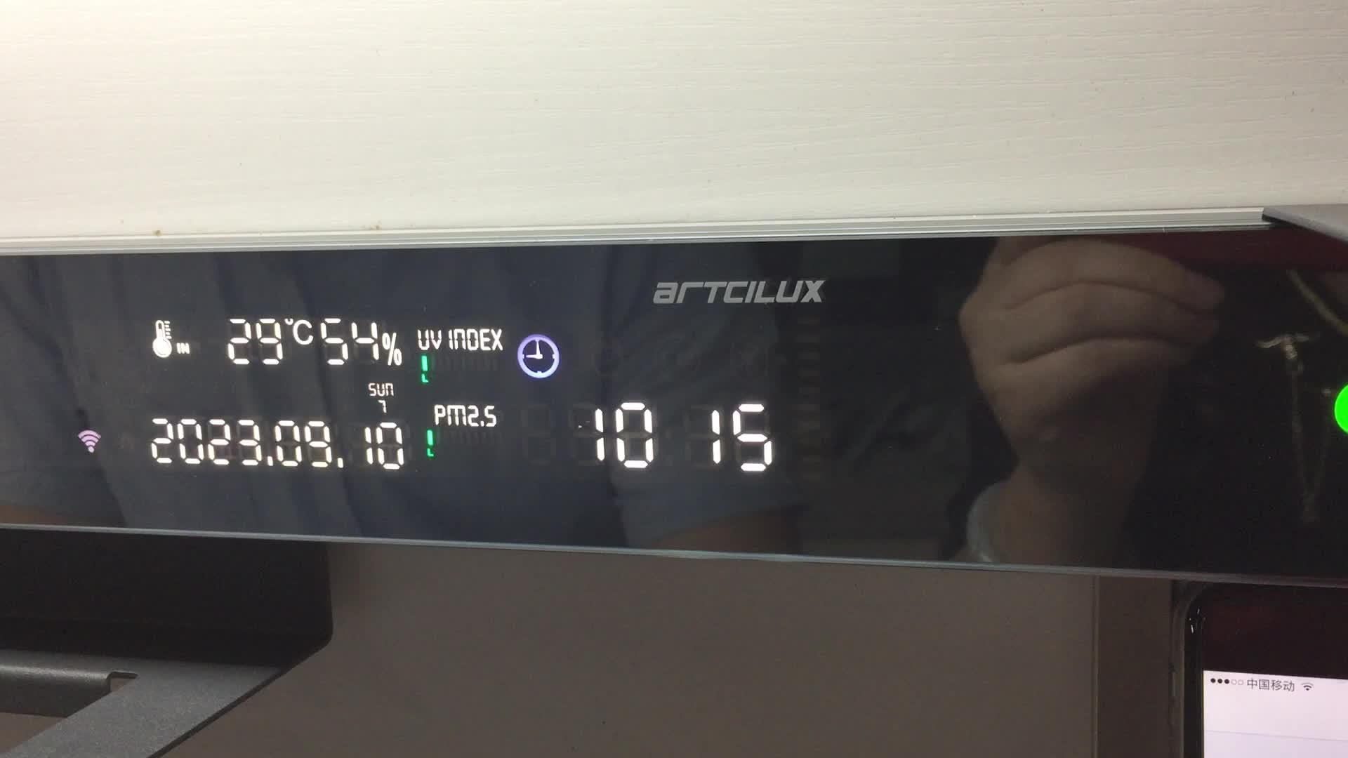A5151 Smart led display Screen two power socket usb port use kitchen light