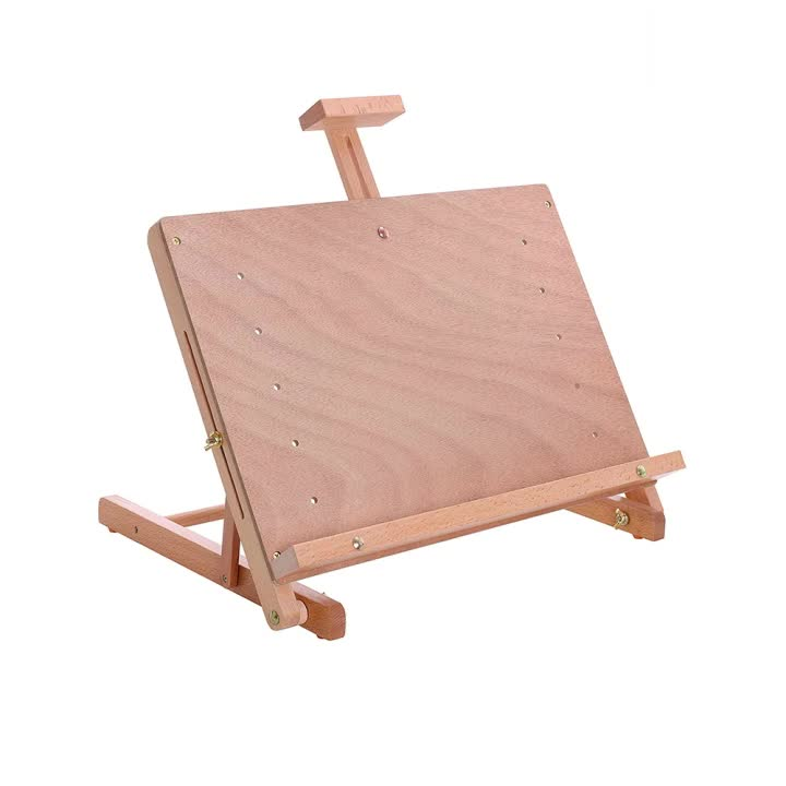 Art Supply Solid Wooden Adjustable Tabletop Artist Studio Easel - Sturdy Wood Beechwood Desktop Painting, Drawing Table,