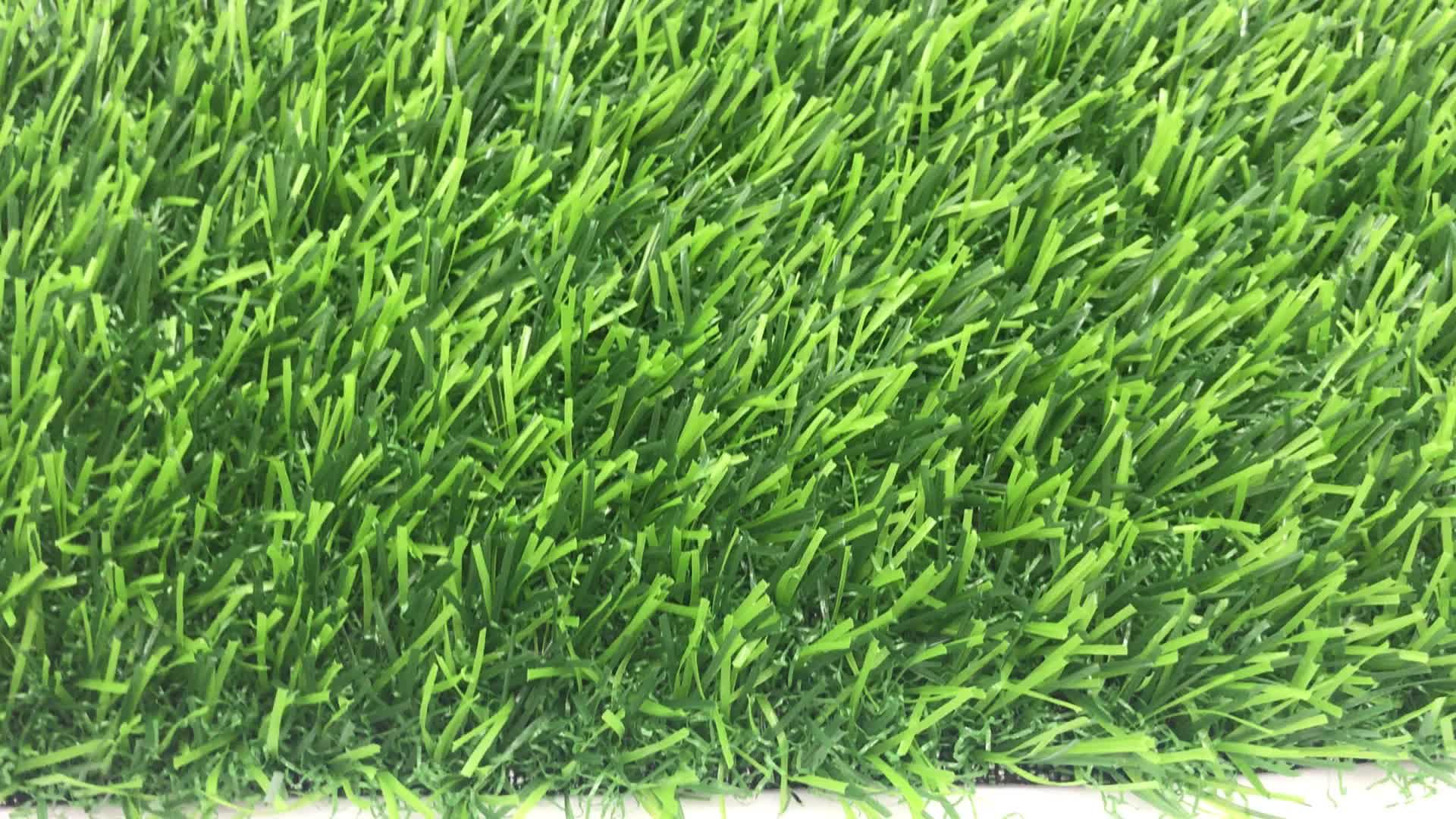 LW03 20 مللي متر ارتفاع الأشعة فوق البنفسجية مقاومة عشب صناعي أخضر للحديقة