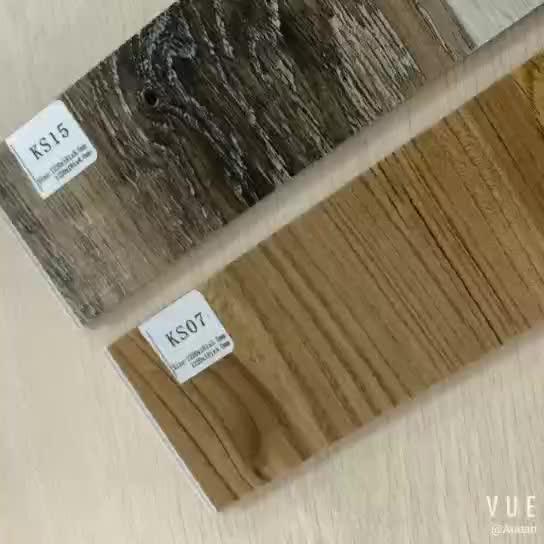 गुआंगज़ौ फैक्टरी थोक के लिए टुकड़े टुकड़े पीवीसी Vinyl छठे वेतन आयोग लकड़ी फर्श इनडोर सजावट