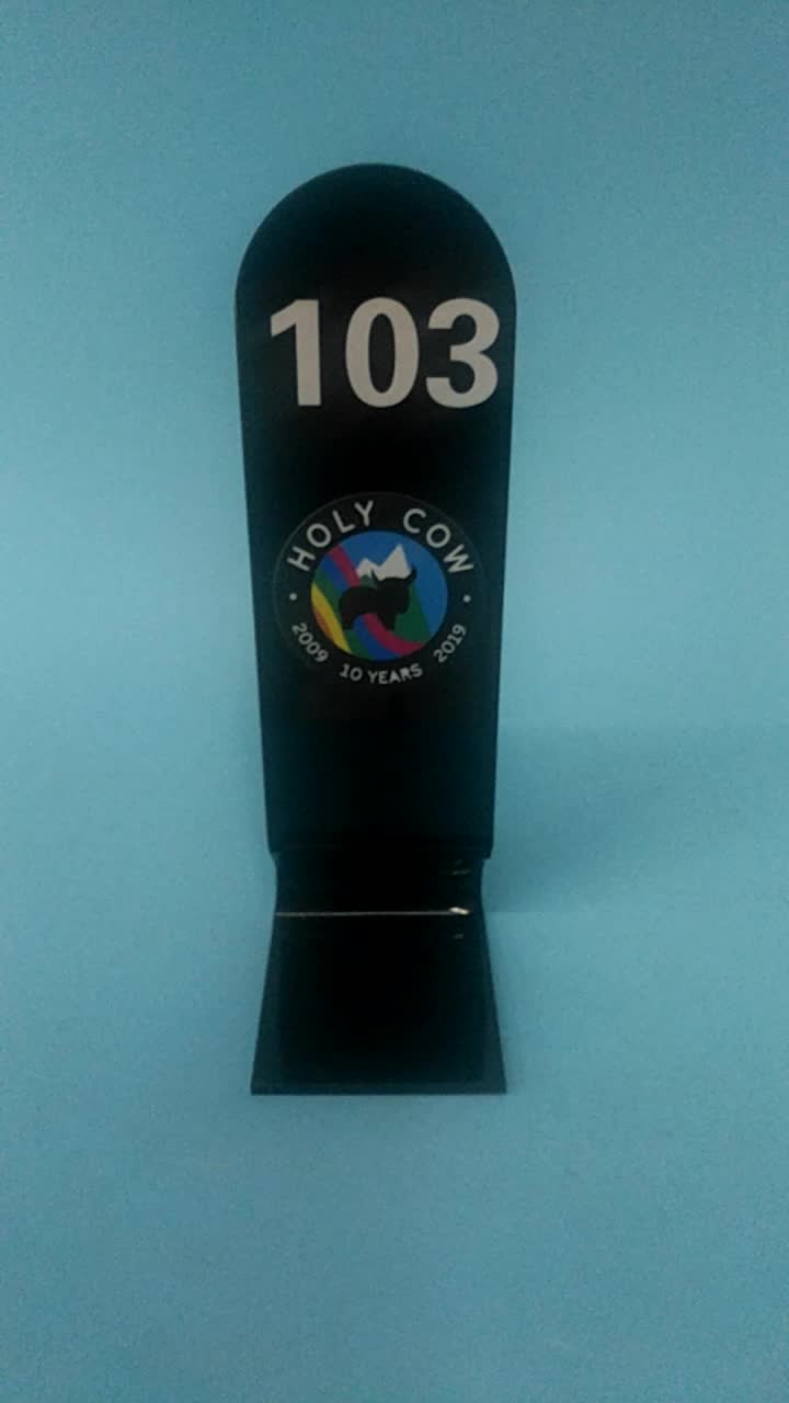 Color Printed Acrylic Table Number  Wedding