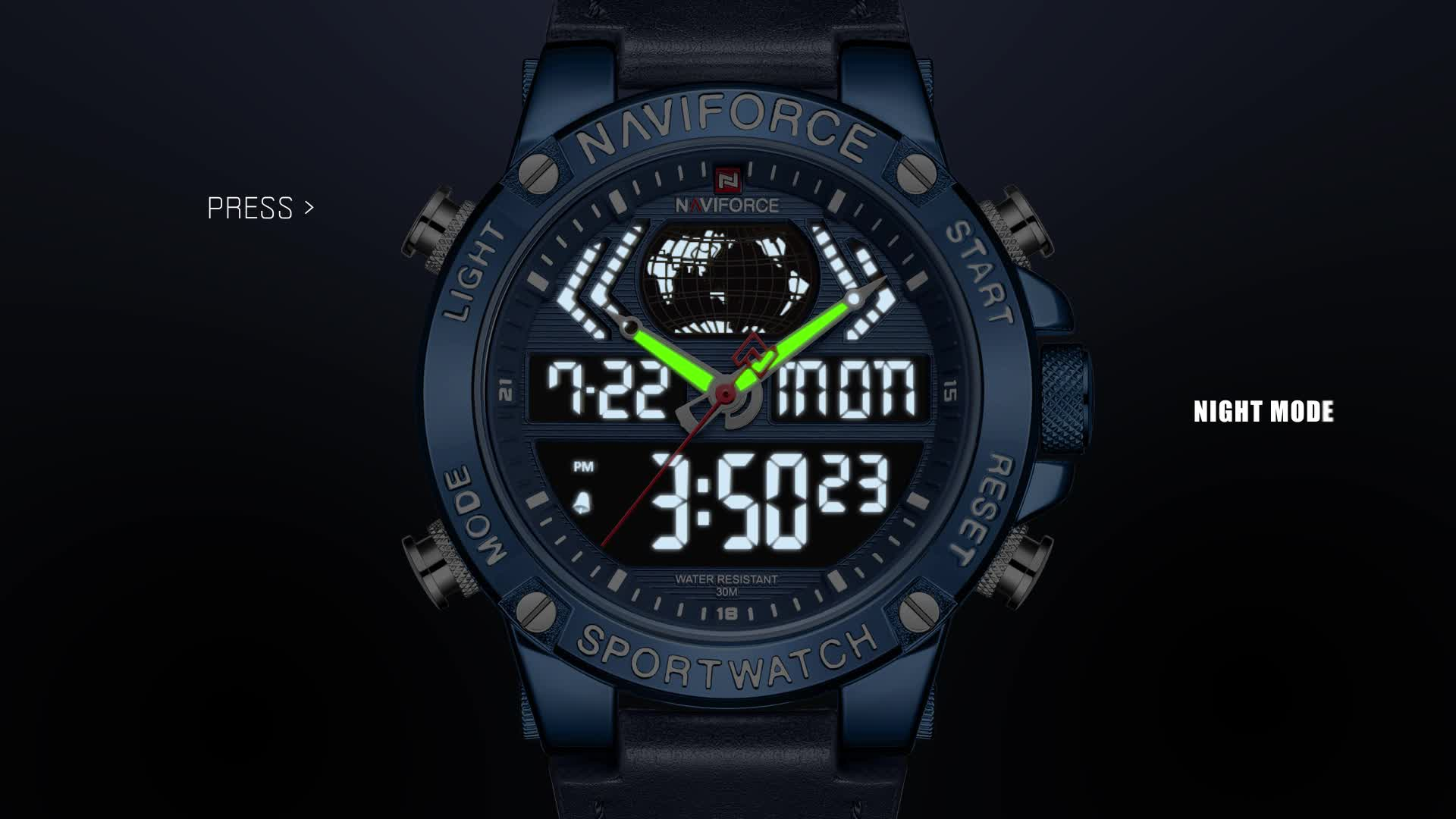 naviforce 9164  luxury relojes hombre Digital mens watches in wristwatches relogio masculino 2019 hot sale  relojes