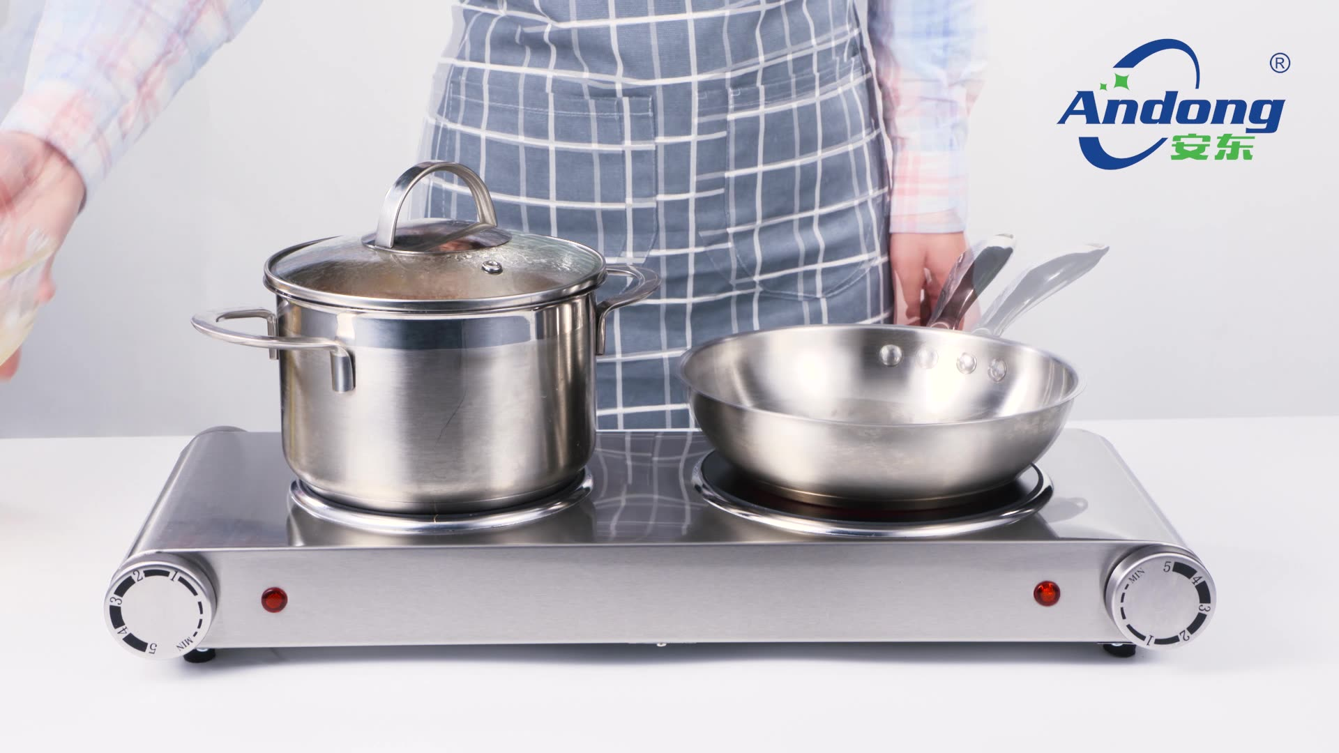 2500W Electric double burner cooking hot plate