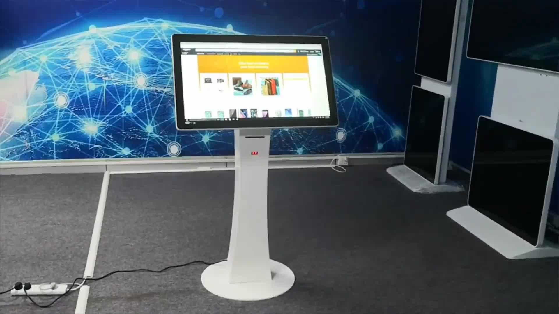 สมาร์ท Touch screen POS kiosk เครื่องพิมพ์และสแกนเนอร์