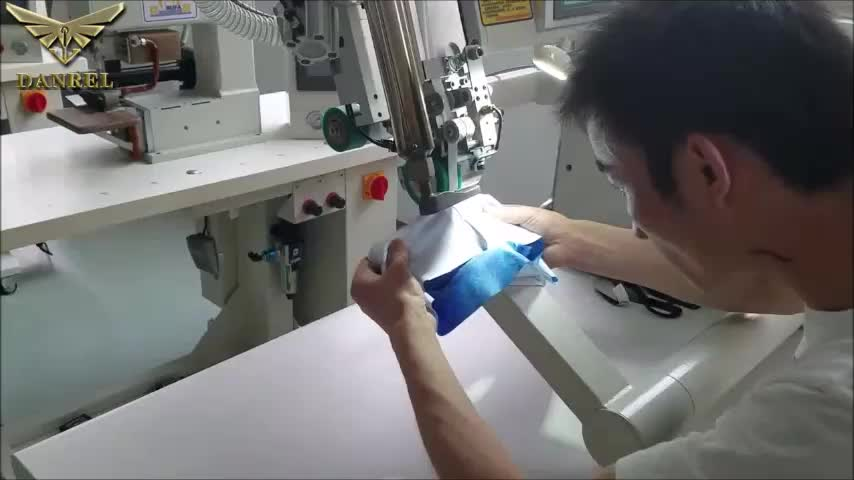 Easy Operation Dual Arms Hot Air Nylon Seam Tape Welder And Sealer For Elastic Fabric Waterproof Sealing DANREL DR-F10T