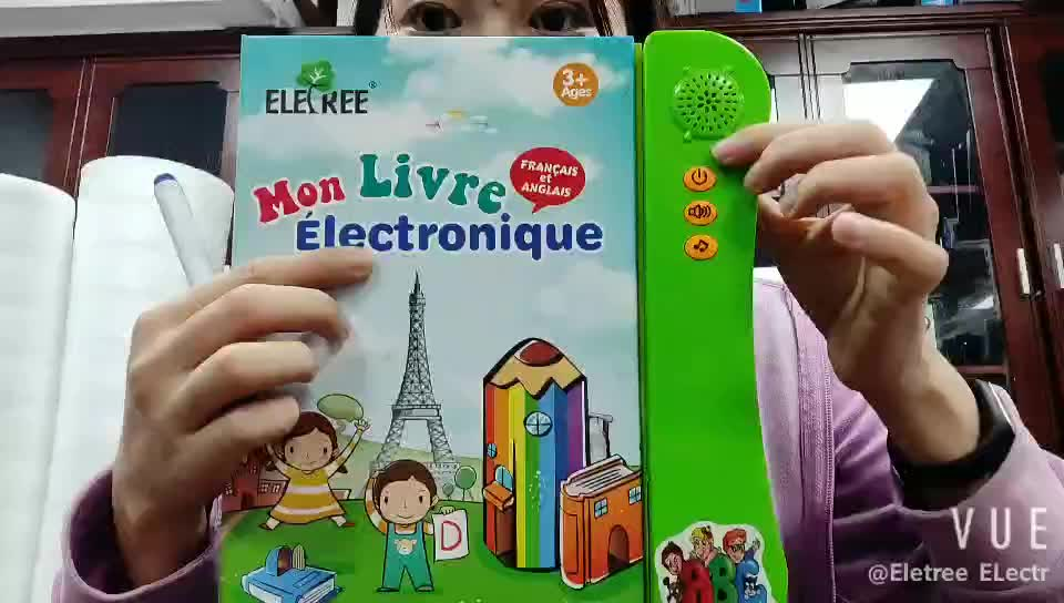 Christmas gift educational audio electronic Spanish activity talking books for kids