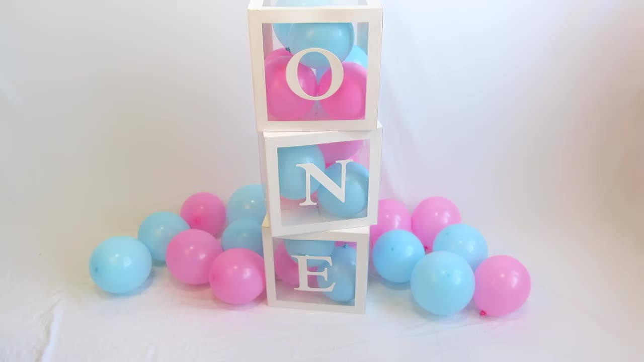Baby Shower Decorations Transparent Balloon Box With Letter For Birthday Party Decorations Supplies