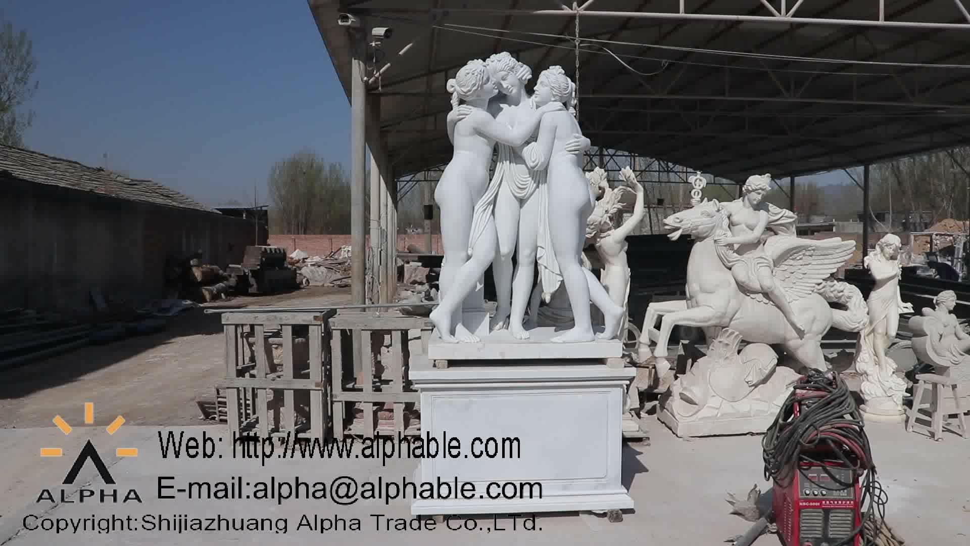 Caráter escultura esculpida travertino size life estátua Grega mítico grego