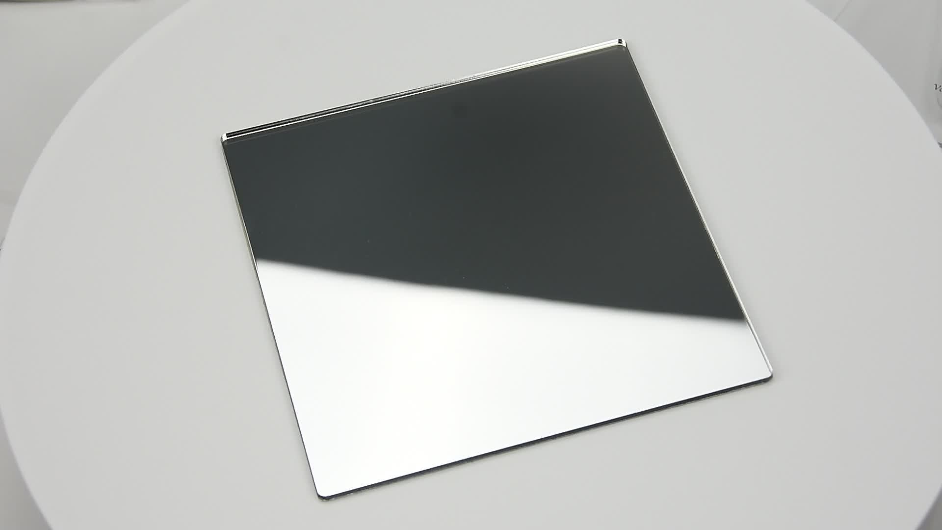Espejo de dos vías de plástico de corte láser personalizado hojas acrílicas espejo