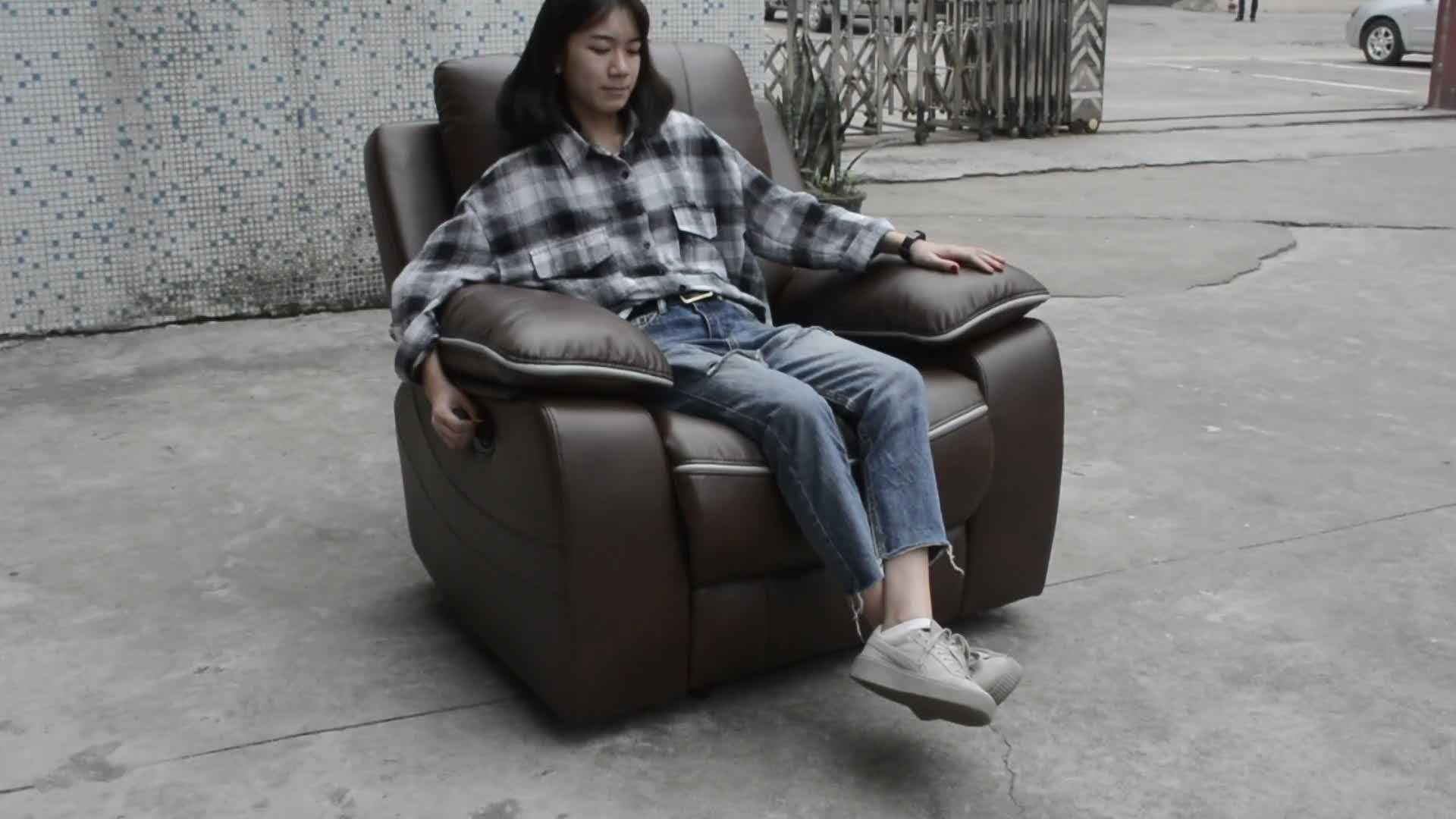 Sofá reclinable kuka de cuero bicast en forma de l para el mercado africano