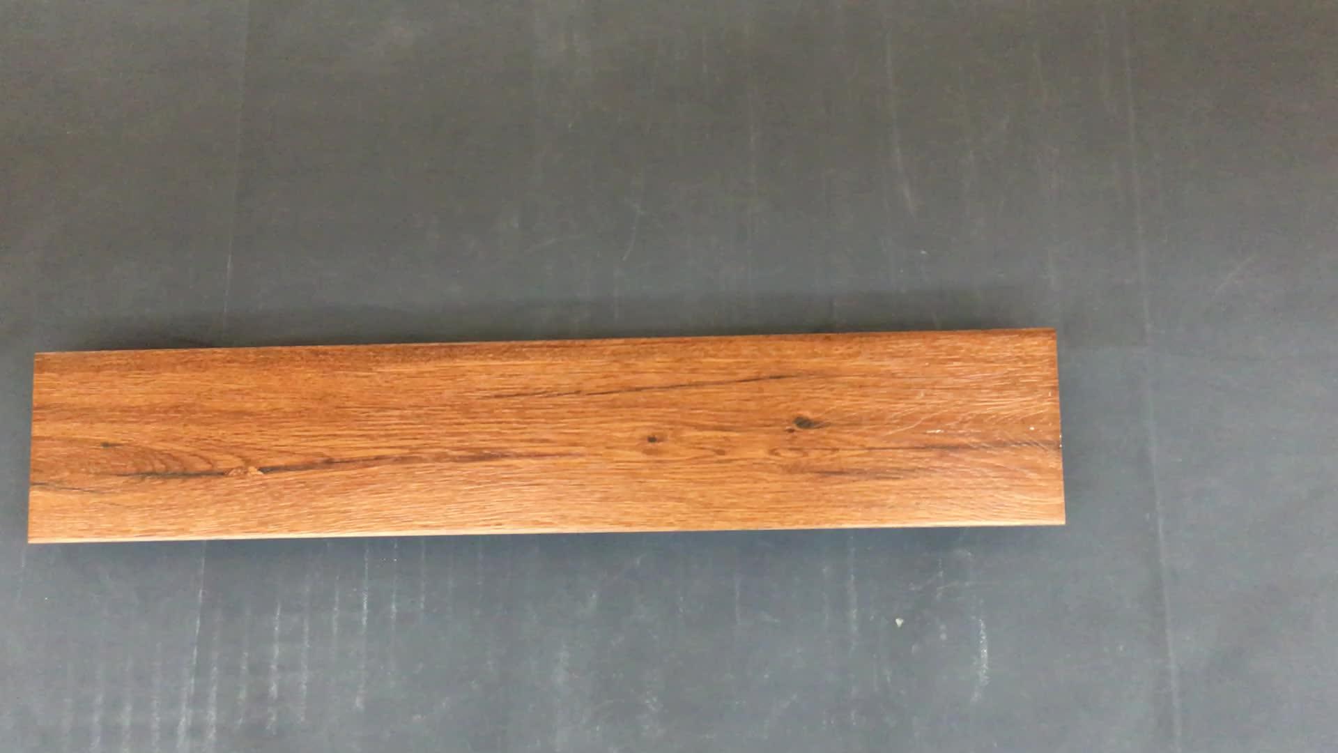 Anti slip grano di legno rustico pavimento di piastrelle di legno