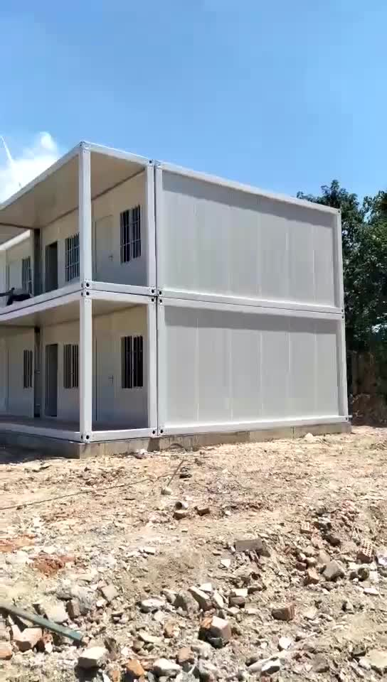 Two layers of Easy installation demountable  foldable flat pack mobile office units small house container