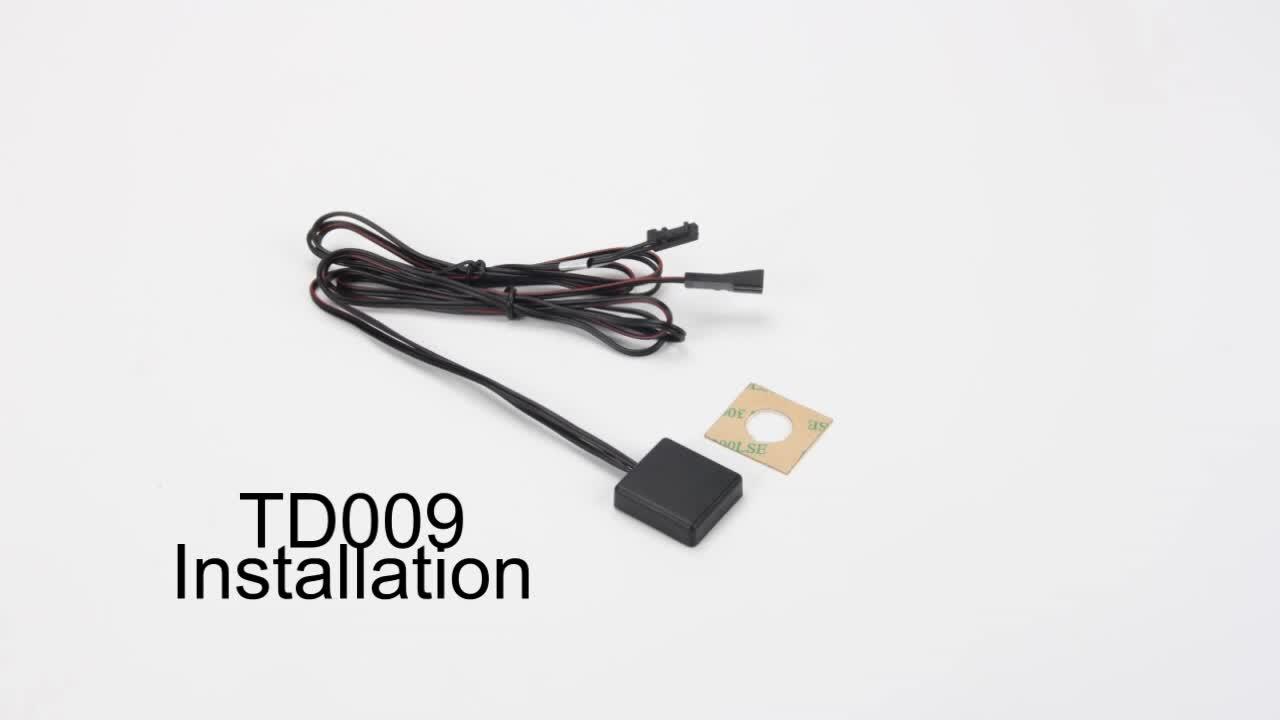 TD009 12 โวลต์/24 โวลต์ LED กระจก touch dimmer switch