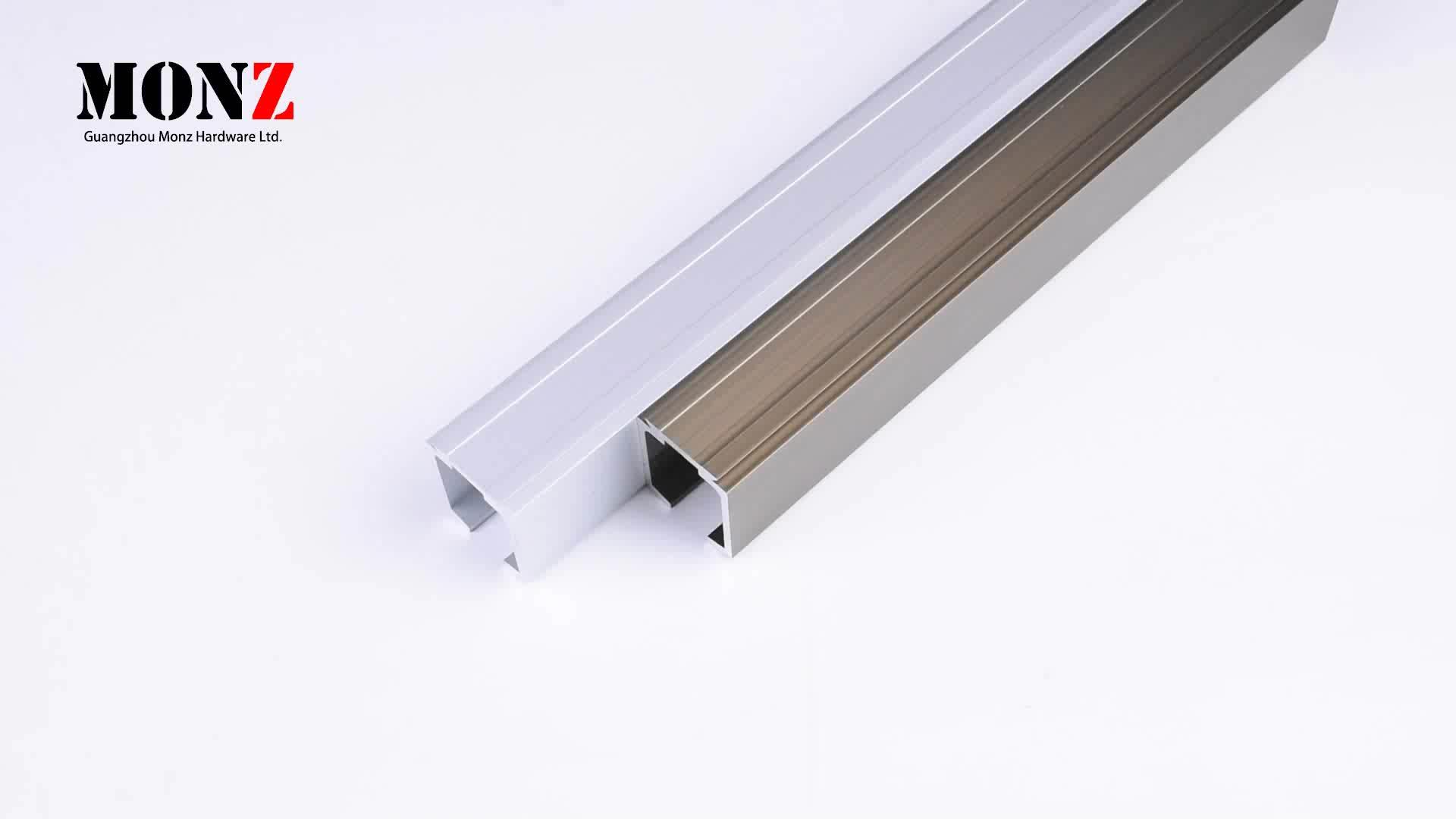 दरवाजा प्रणाली फिसलने ट्रैक ग्लास फिसलने ट्रैक तह दरवाजे हार्डवेयर स्वयं सफाई