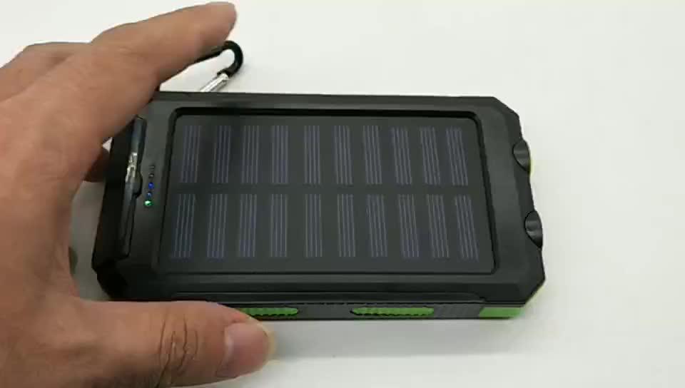 2019 Universal Solar Ladegerät Handy 10000Mah Wasserdicht Solar Power Bank 20000Mah Für alle smartphone
