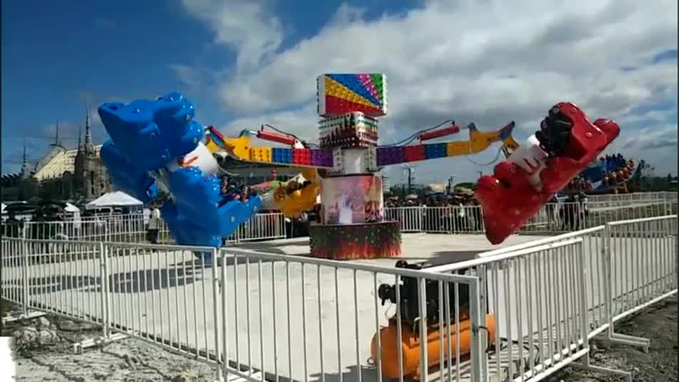 Shenlong Factory Big Thrilling Rides Fun Park 24 Seats Energy Storm Rides for Adults