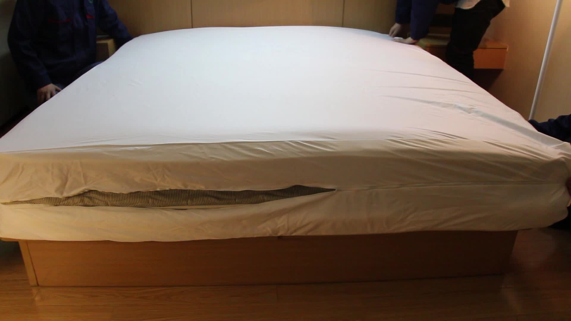 Waterproof Bed Bug Proof Zipper Mattress encasement with Knitted cloth  fabric for adult Bed or crib pad protector