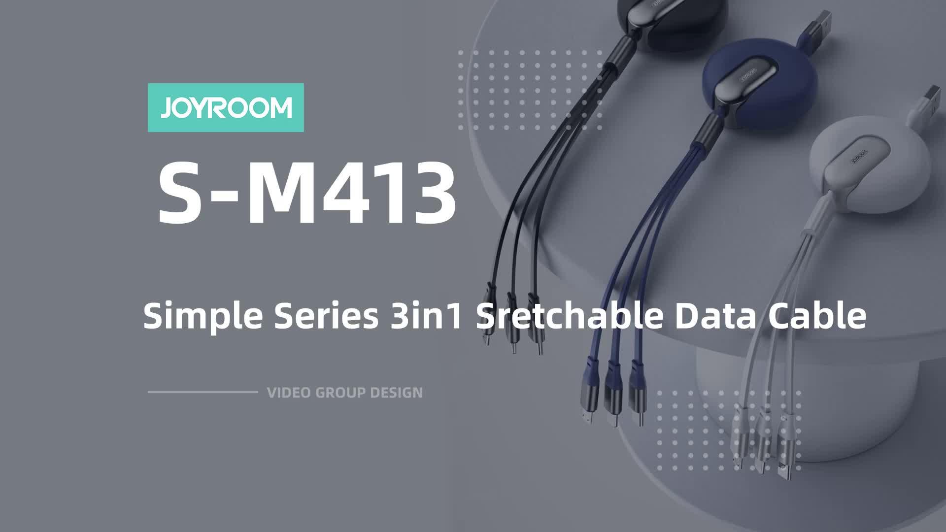 Joyroom retrátil de metal flexível cabo usb rápido carregador de celular universal cabo de carregamento de dados usb 3 em 1