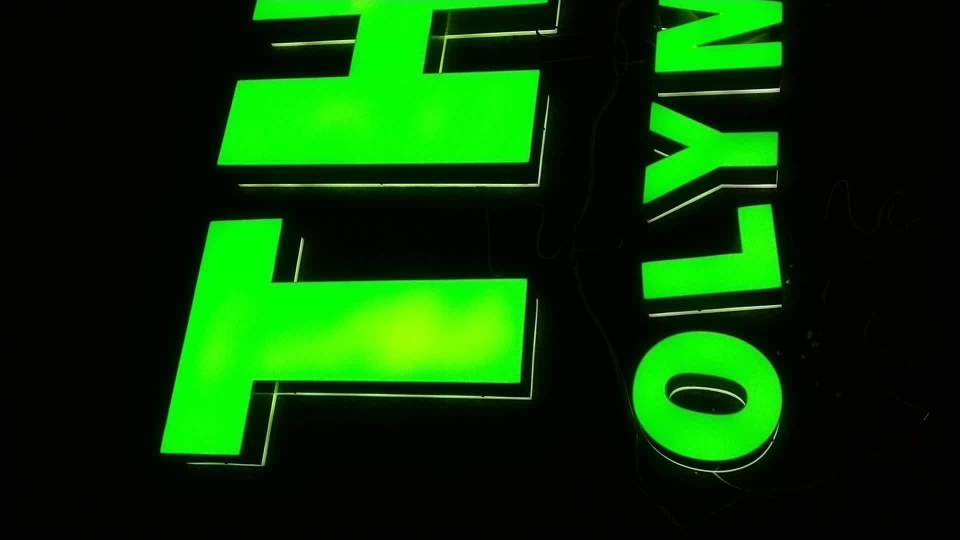 Personalizado decoração do partido neon display 3d led carta sinal luzes