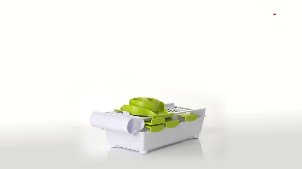 Smile mom 6 in 1 Multi Kitchen Manual Vegetable Shredder - Potato Cutter - Slicer Vegetable - Carrot Grater
