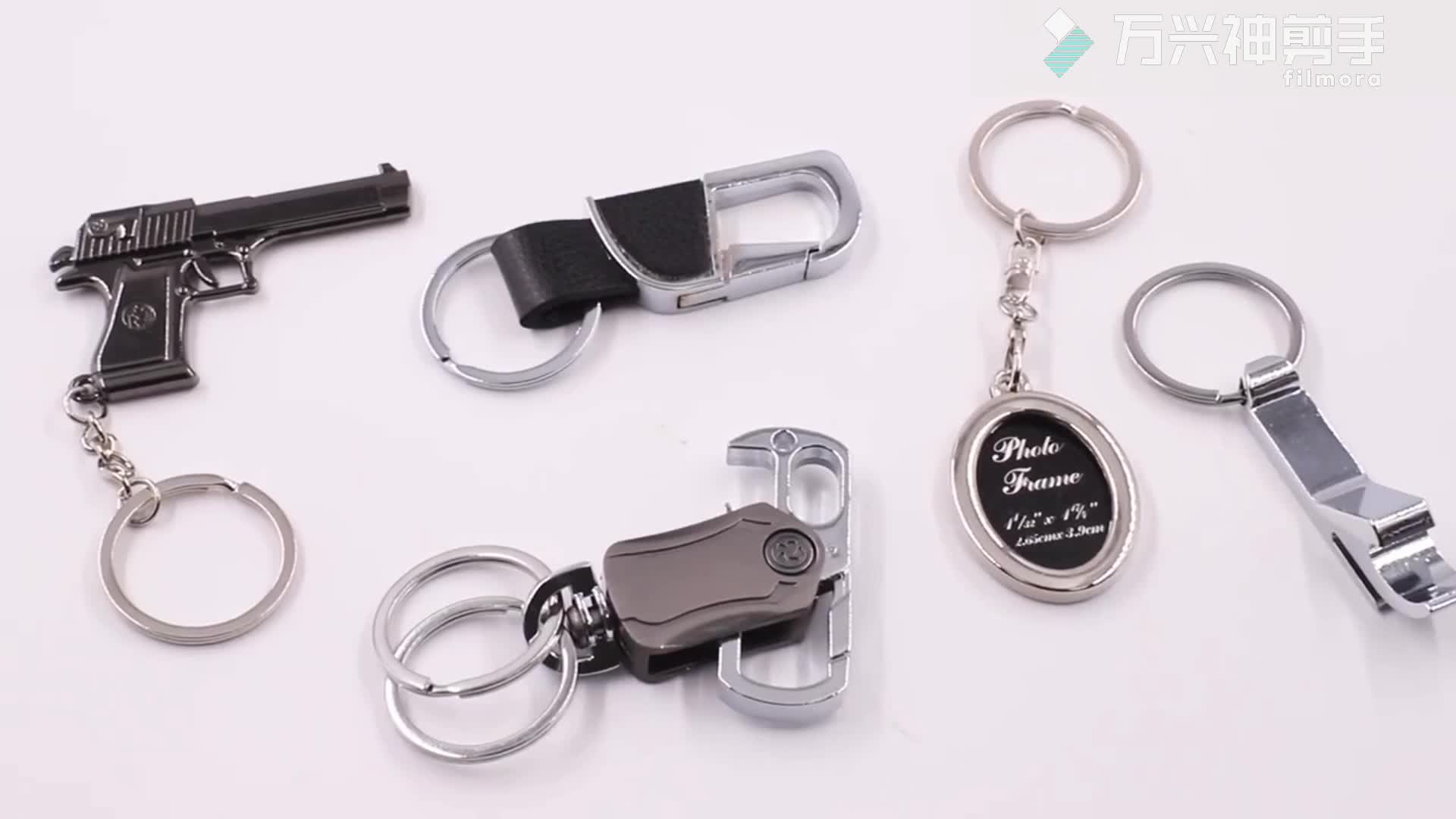 Custom cheap silver metal letter shape with diamond key ring keychains for sale