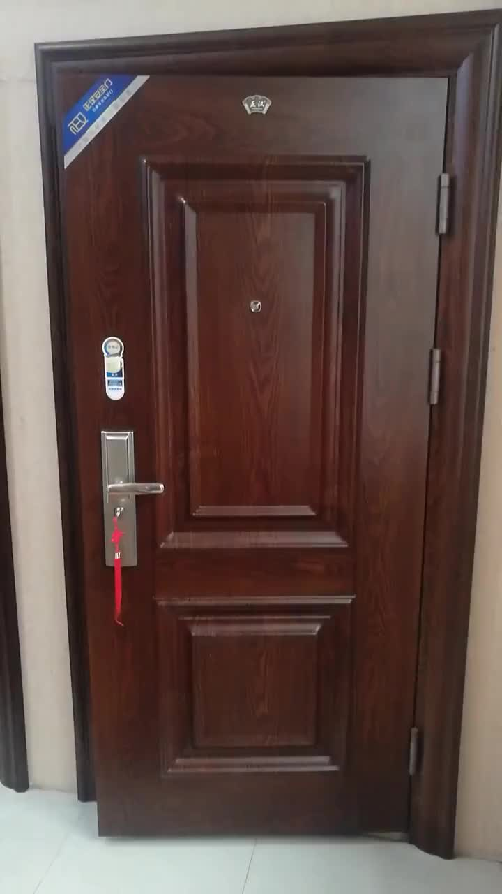 New Style Security Cheap China Entrance Steel Apartment Home Entry Door For Ghana