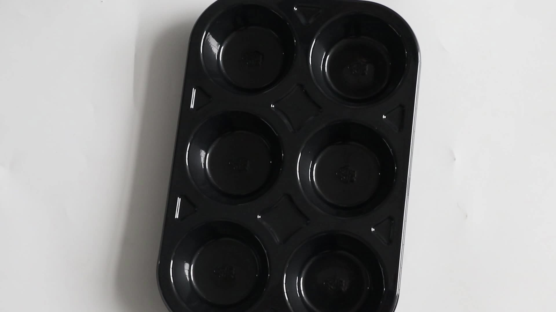 Custom Black Disposable Blister Plastic Cookie Packaging Biscuits Trays