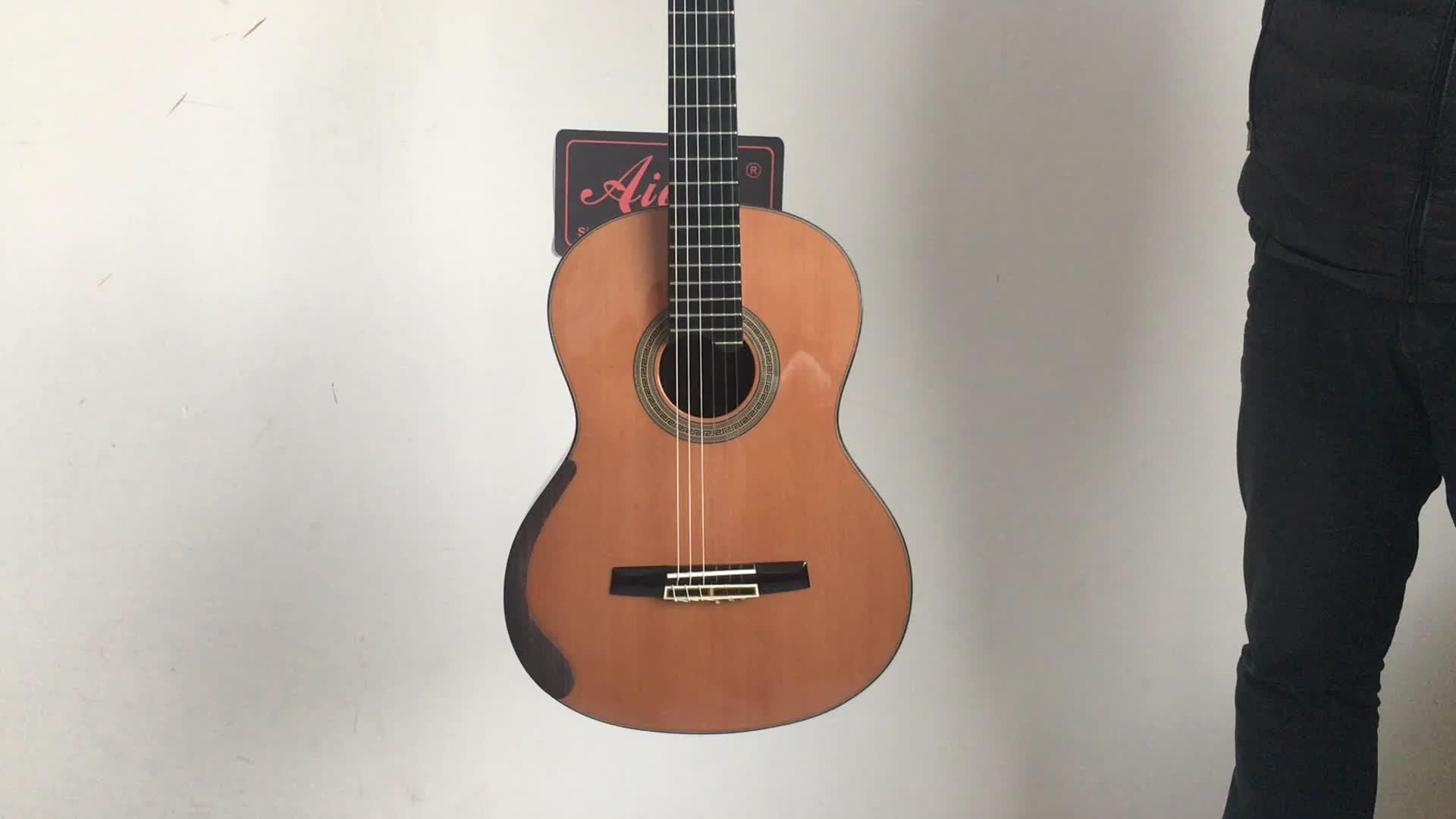 Aiersi merk Java ebbenhout smallman klassieke gitaar