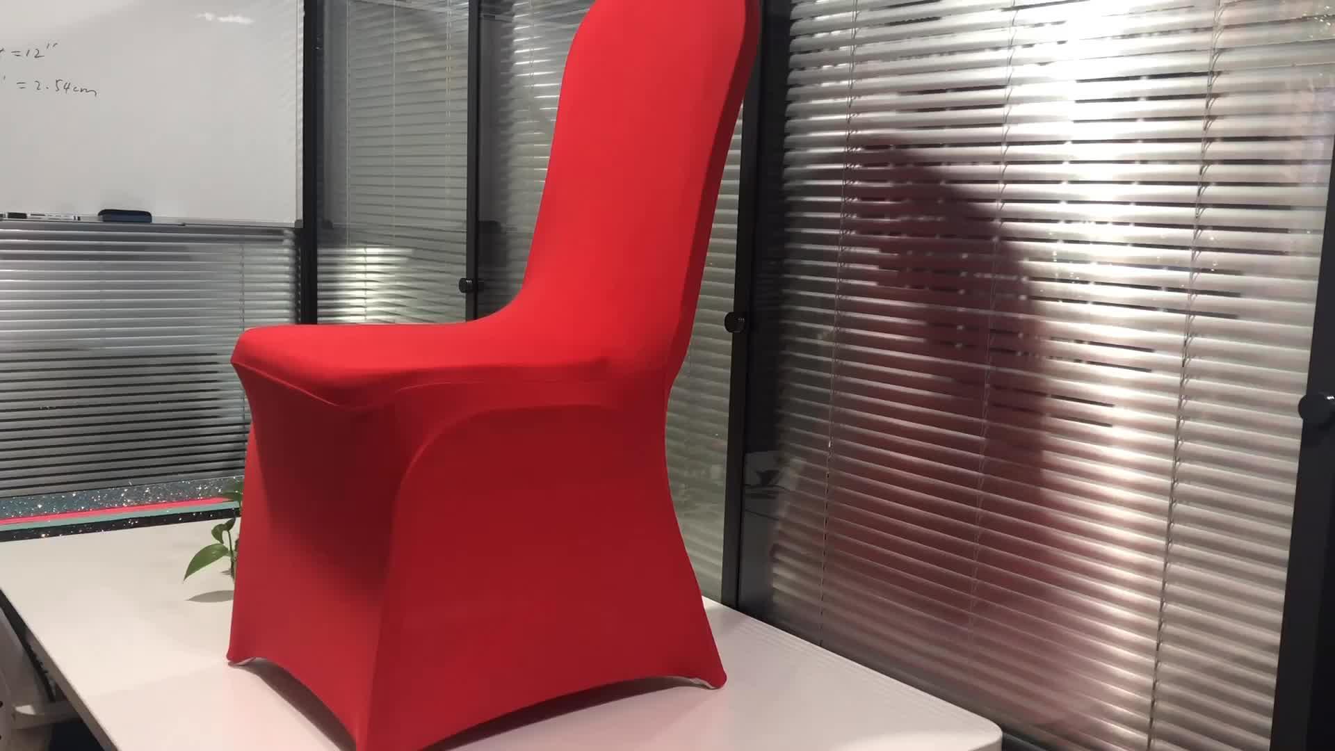 Caldo poco costoso della fabbrica di cerimonia nuziale del partito di festa di natale di alta elastico spandex nero sedia bianca copre
