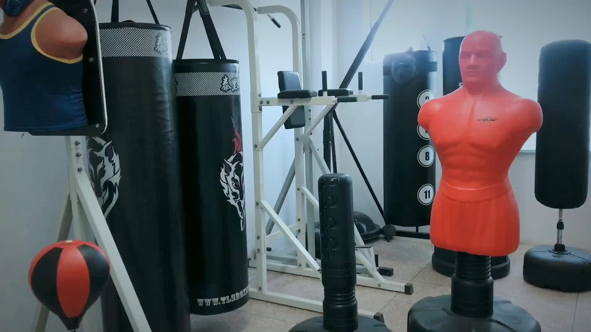 Punching bag black freestanding kickbox home gym workout boxing