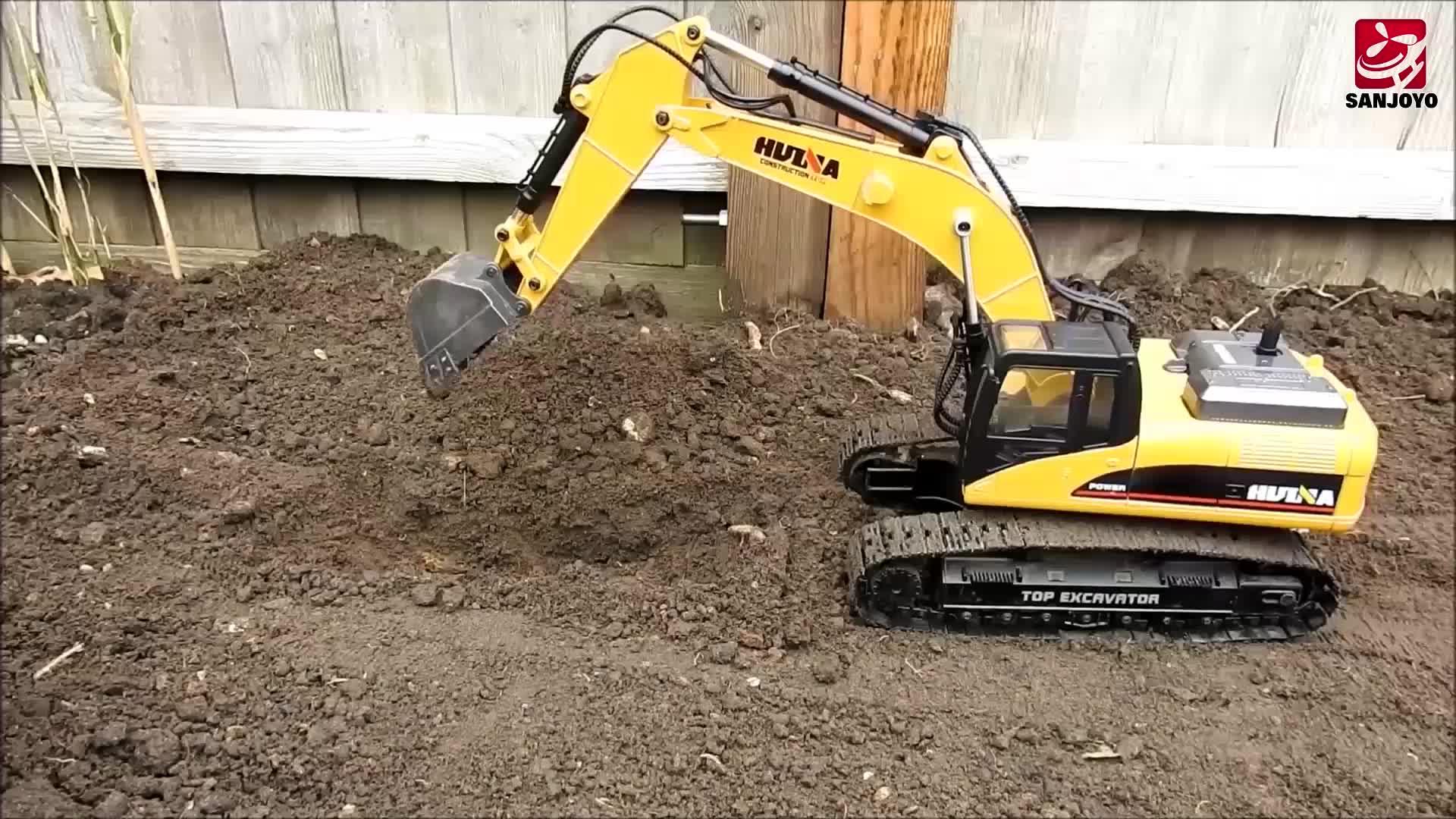 New 7.4V 2000mAh Excavator Model 1:14 2.4G Long Digging Arm RC Dump Truck SJY- 1580
