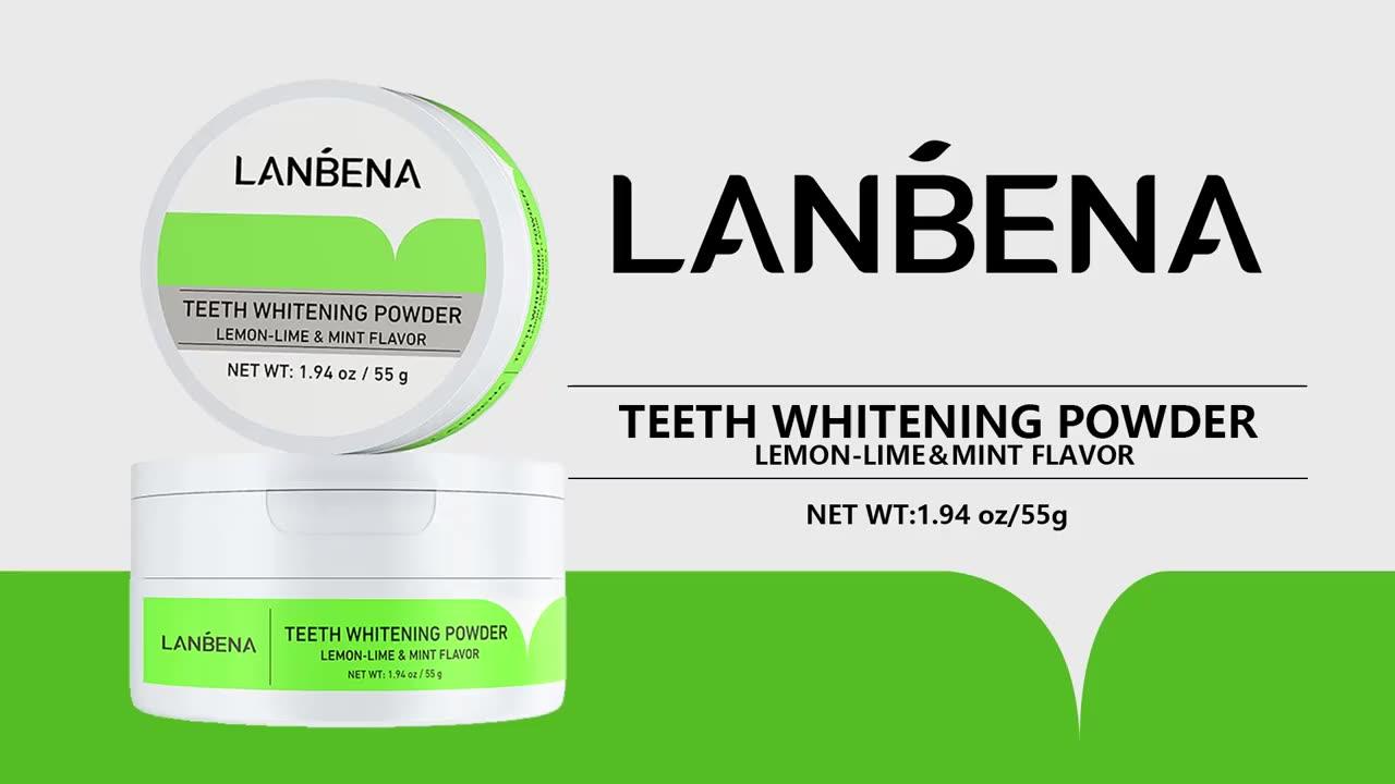 นาฬิกา LANBENA Teeth Whitening Powder Tangy Lemon LIME สุขอนามัยทันตกรรมทำความสะอาดฟัน Remove Tartar Oral Care ยาสีฟันสูตรเกลือผสมฟลูออไรด์ผสานพลังสมุนไพรฟันขาวสะอาดลดกลิ่นปาก MOQ 3