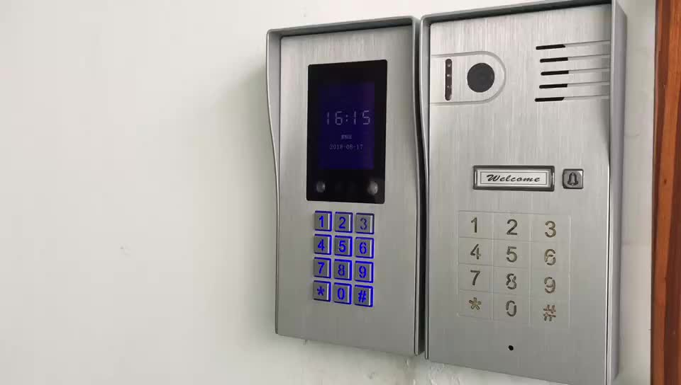 Answer your door anywhere cloud access control wifi wireless IP video door phone door answering system with camera