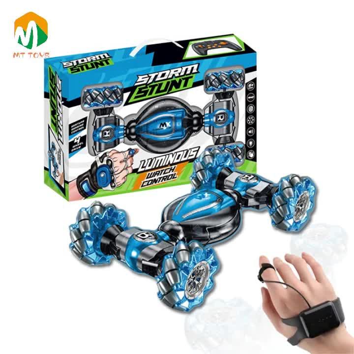 Kids 2.4 GHZ Rolling Climbing Twist Hand Watch Rc Toys Gesture Stunt Remote Control Car