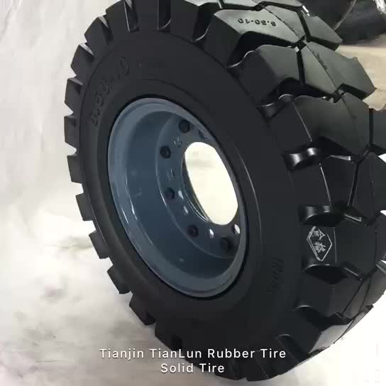 Tianlun brand high performance 650-10 28x9-15 solid forklift tire