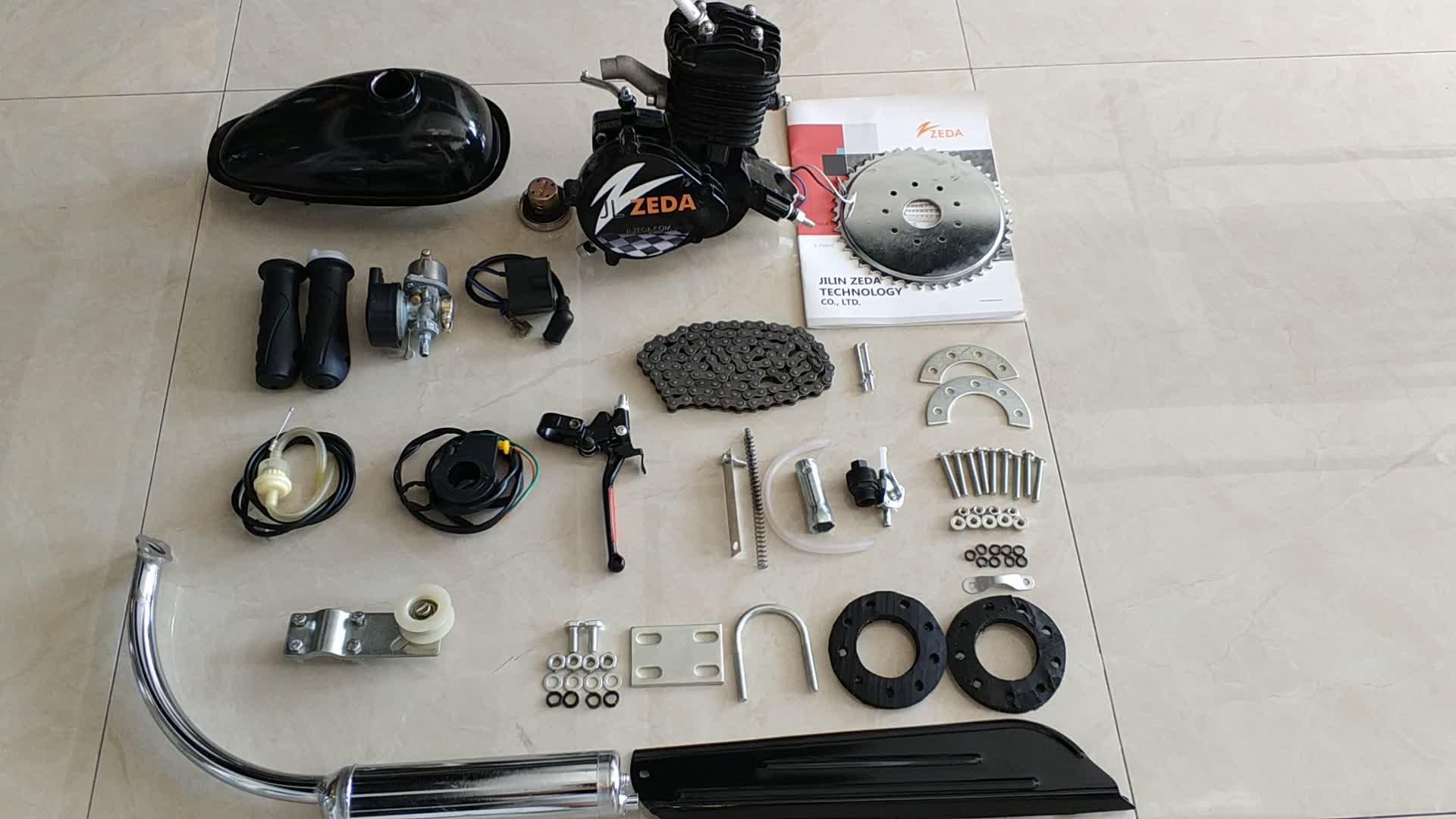 Benzina motor bike kit 80cc/kit motore gasolina para 80cc bicicleta