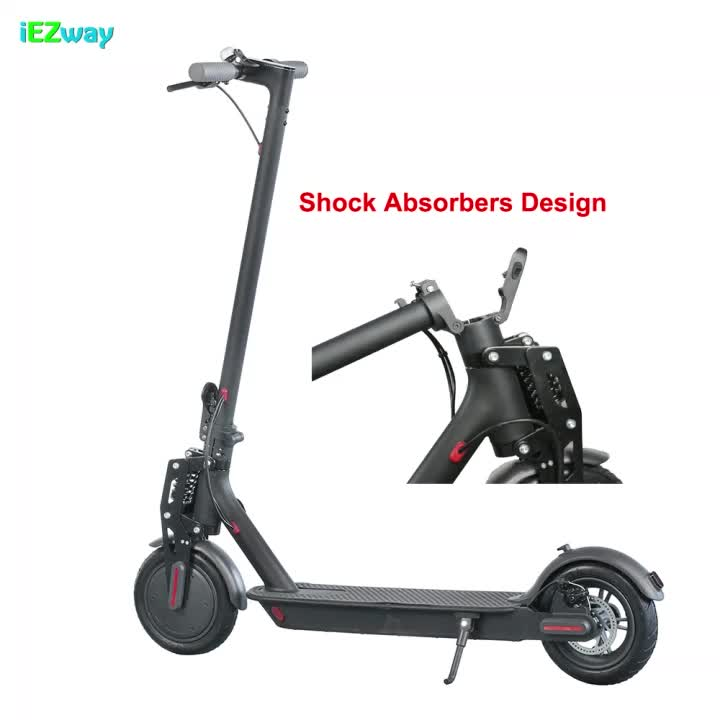 2020 Alibaba New 8.5inch Two Wheel Adult Folding Suspension Electric Scooter