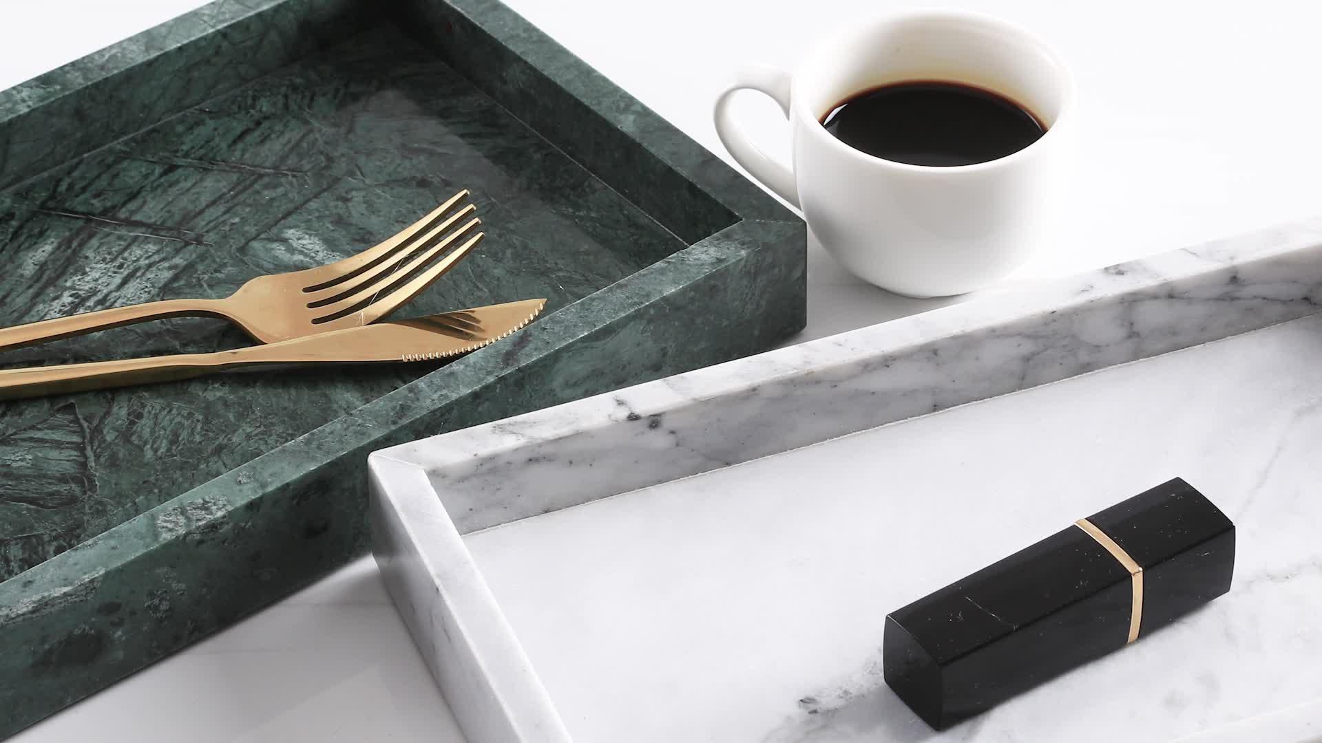 厂家直销北欧ins风大理石托盘糕点首饰浴室收纳展示托盒可定制