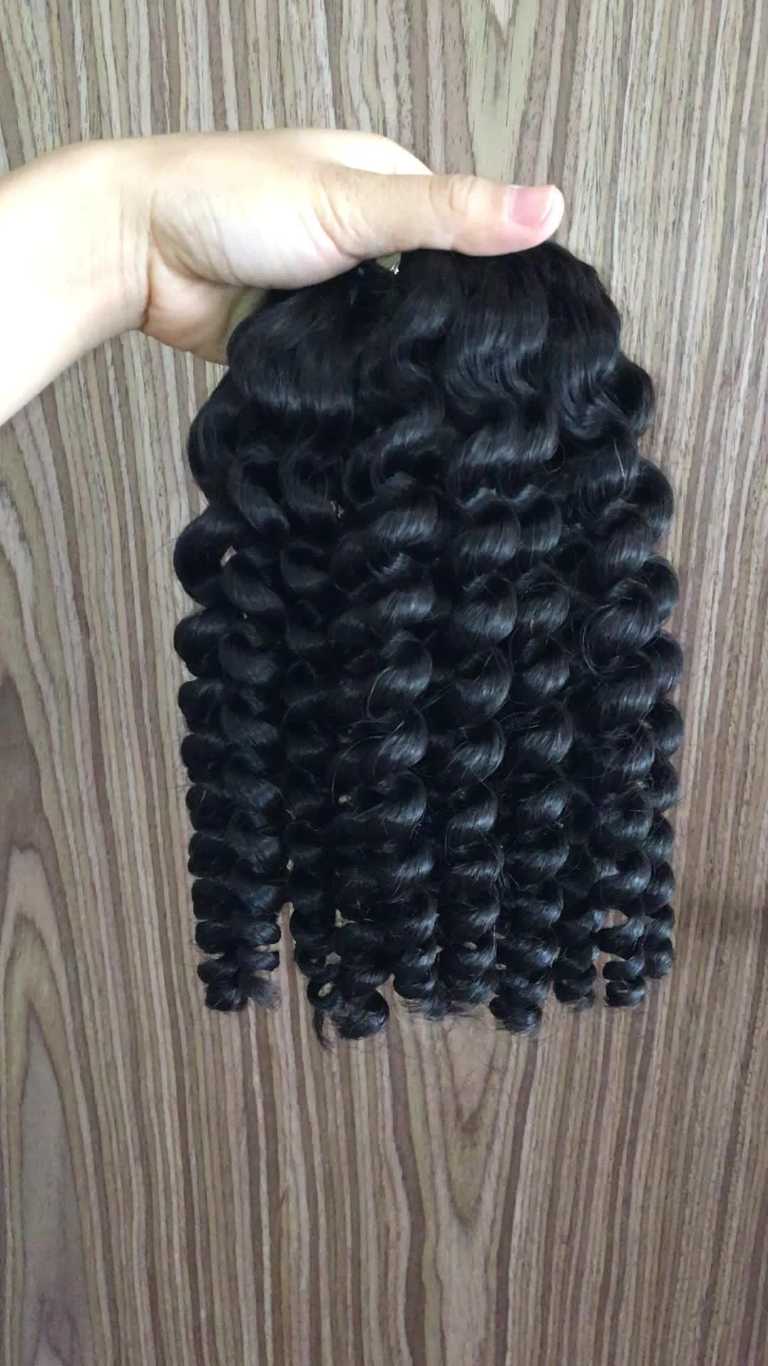 Diepe Krullend Remy Virgin Hair Weave Kinky Krullen Remy Virgin Hair Extensions Natuurlijke Braziliaanse Haar Verkocht met Betaalbare Prijs