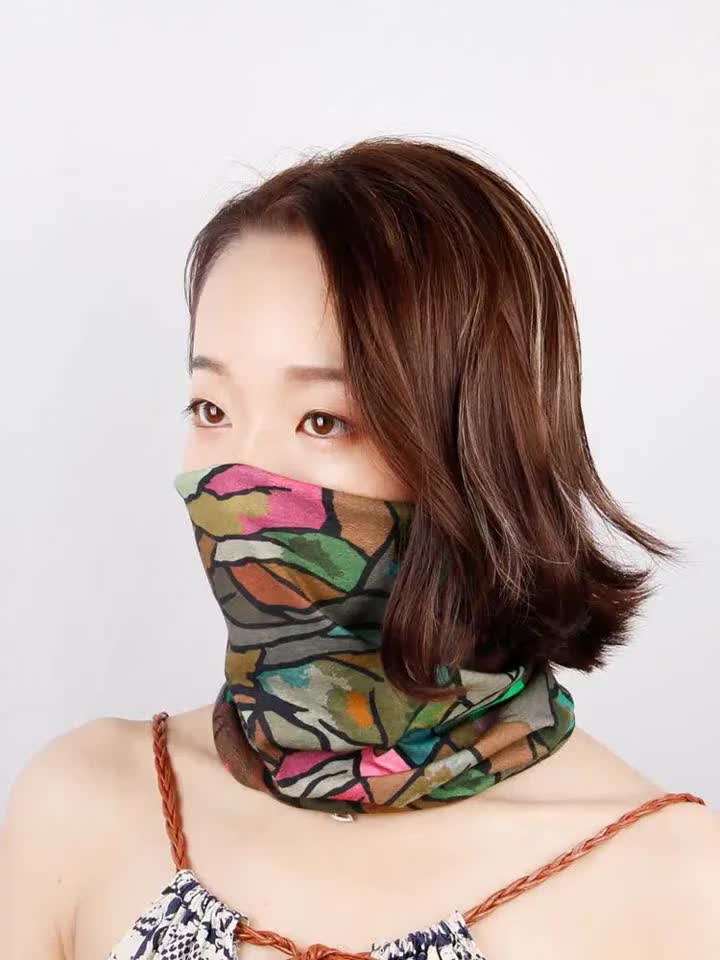 Wholesale Cheap Sublimation Seamless Bandana Headwarmer No Printing Blank Tubular Bandanas