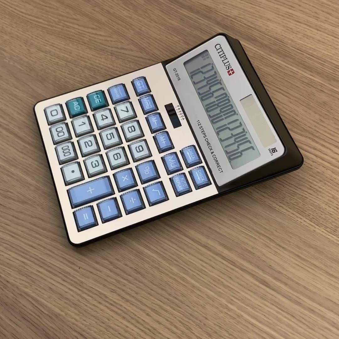 OSALO калькулятор 16 цифр Экстра большой дисплей калькулятор