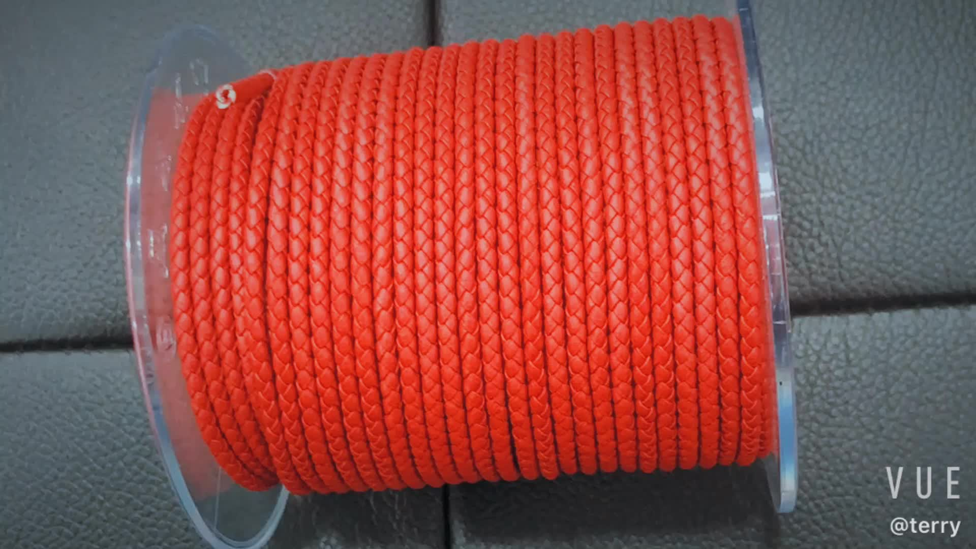 good quality 3mm/4mm/5mm/6mm leather cord round for hand bracelet and necklace,knitted leather rope for jewel accessory