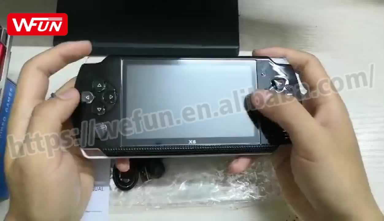 Multi-Functional Portable X6 Handheld Game Console 64/128 Bit 10000 Games Video Game Consoles