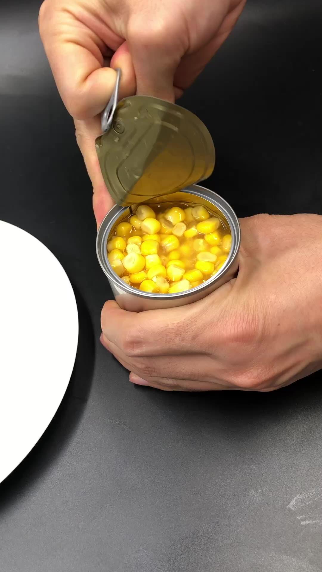 Produttore di tè in Scatola di Mais Dolce Easy Open buon gusto Dolce Kernel di Mais in Grado di