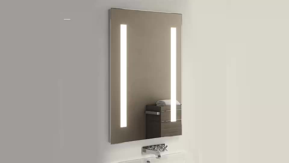 Simple factory price led light mirror used in the bathroom