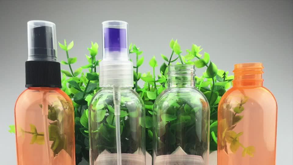Custom Color PET clear 100ml 120ml 4oz plastic empty spray bottles for cosmetic perfume