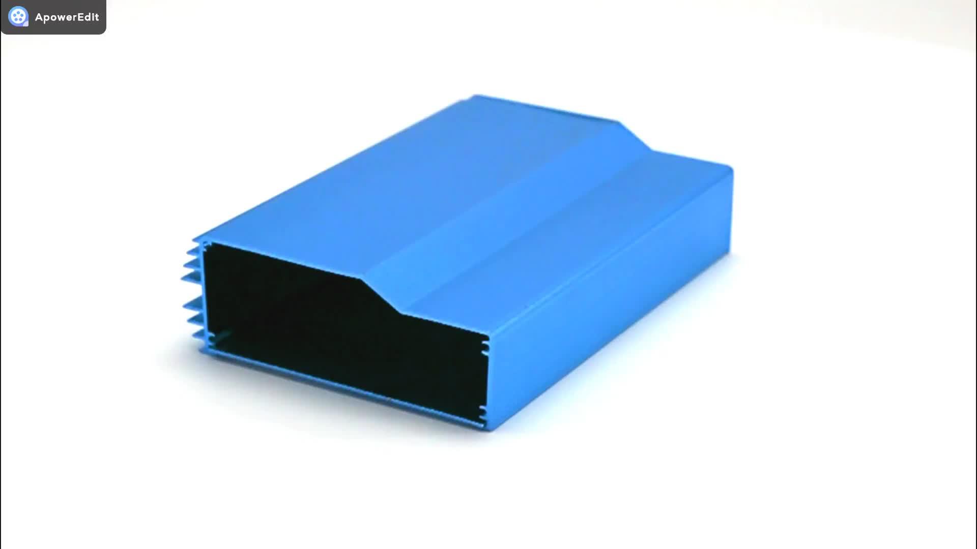 División de oro de caso Proyecto de aluminio de la caja electrónica PCB controlador