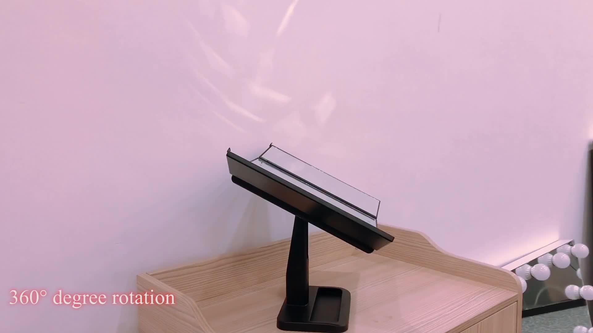 1X/5X/7X Ingrandimento Permanente Desktop Cosmetico A Tre Ante Vanity 21 Specchio per Il Trucco Illuminato LED
